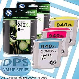 DPS 940XL HP Genuine Black 2-pack & Remanufactured Color-set Cyan,Magenta,Yellow Ink Cartridge