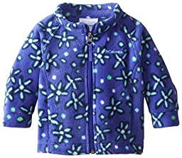 Columbia Baby-Girls Newborn Benton Springs II Printed Fleece Jacket, Light Grape Print, 3-6 Months