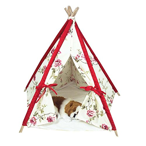 Free Love@flower design Pet Kennels Pet Play House Dog Play Tent Cat /Dog Bed