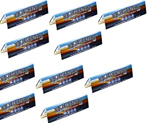 Elements Rice Rolling Paper Budget 10 Pc Pack King Size