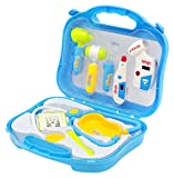 Little Treasures Mini Doctors Travel Examination Kit Featuring Stethoscope, Heart Rate Monitor and Thermometer