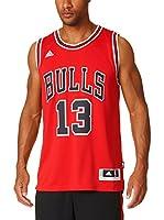 adidas Camiseta sin mangas Chicago Bulls Noah (Rojo / Negro / Blanco)