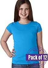 Next Level Girls The Princess Tee 3710-Turquoise-Medium 12 Pack