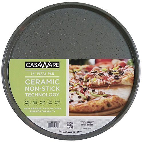 CasaWare Toaster Oven Pizza/baking Pan 12-inch (Silver Granite)