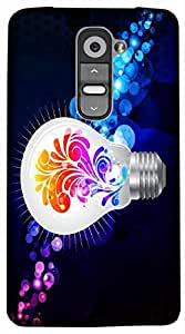 Timpax Light Weight Hard Back Case Cover Printed Design : A coloured bulb.Compatible with LG G3 Stylus ( D690N )