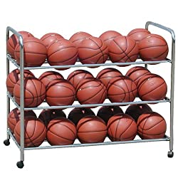 Double-Wide Steel Ball Cart - Storage