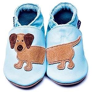 """Zapatos Inch Blue de cuero blando con """"Dash el perro"""""""
