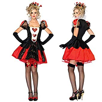 F&C Alice's Adventures in Wonderland Queen of Hearts Halloween Costume