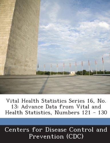 Vital Health Statistics Series 16, No. 13: Advance Data From Vital And Health Statistics, Numbers 121 - 130