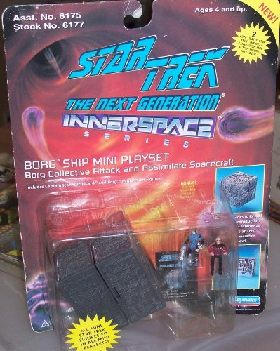 STAR TREK THE NEXT GENERATION INNERSPACE SERIES BORG COLLECTIVE ATTACK AND ASSIMILATE SPACECRAFT - 1