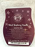 Scentsy Bar, Black Raspberry Vanilla Wickless Candle Tart Warmer Wax 3.2 Fl. Oz. 8 Squares