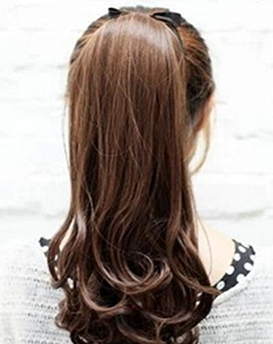 Orino Beauty™ Women Ladies Brown Long Curly Wavy 5 Clips In Hair Extensions Wigs(Obw-#047)