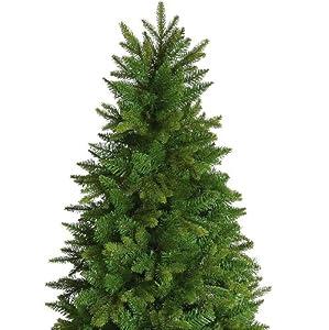 Green Christmas Tree 7.5 ft - Minnesota Slim Pine - Artificial Christmas Tree by Swift Imports