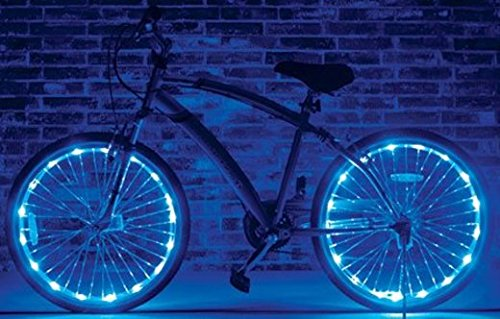 Wheel Brightz Led Bicycle Safety Light Lightweight Accessory (Cool Blue)