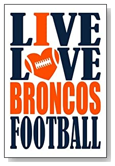Live Love I Heart Broncos Football lined journal - any occasion gift idea for Denver Broncos fans from WriteDrawDesign.com