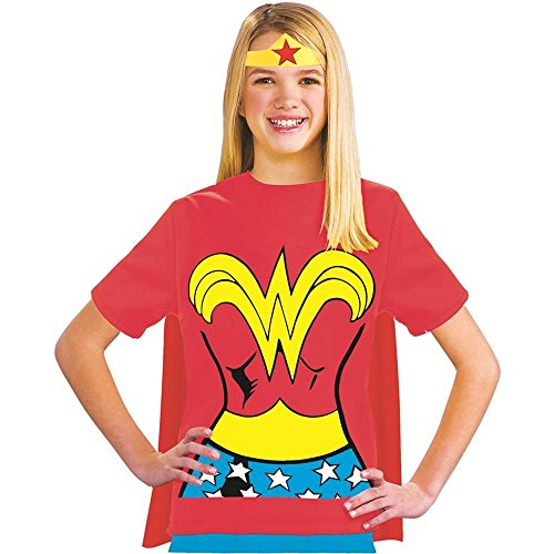 Wonder Woman Shirt Kids Costume Kit - Small