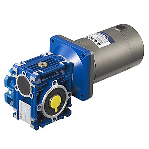 TSINY Electric 24V 100W High Torque DC Worm Gear Motor 30RPM With Gearbox Speed Reducer Ratio 60/1 (Worm Gear Reducer compare prices)