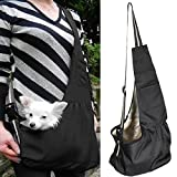 Feeto Pets Carrier Travel Tote Shoulder Bag Sling Backpack for Small Dogs Cats Puppies (Small, Black)