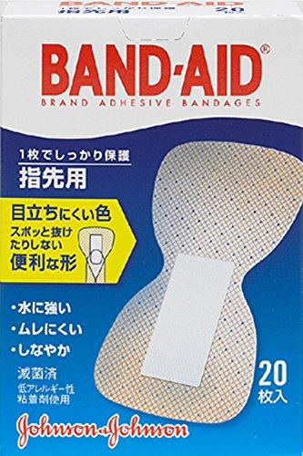 バンドエイド 救急絆創膏 肌色タイプ 指先用 20枚
