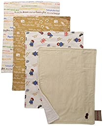 Trend Lab 4 Piece Paddington Bear Bouquet Burp Cloth Set