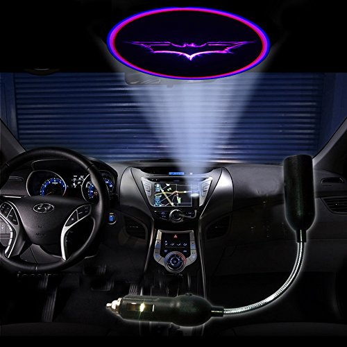 Custom-Made Purple Vampire Bat Batman Car Roof Cigarette Lighter Projector Logo Shadow Ghost Led Light Lamp Projection Light Atmosphere Reading Light