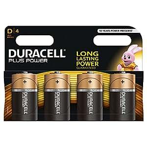 Duracell Pile Alcaline Plus Power D x4