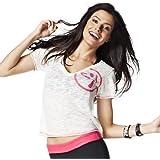 Zumba T-shirt de fitness à col en V Many Moons A-Glow