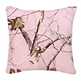 Camo Square Pillow in Pink