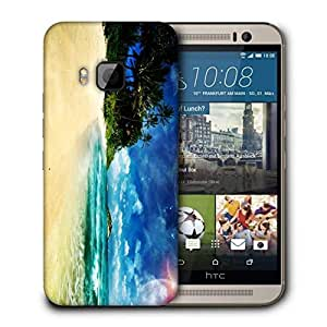 Snoogg Perfect Vacation Spot Printed Protective Phone Back Case Cover For HTC One M9