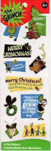 Dr. Seuss Merry Grinchmas Grinch Foil Accent Scrapbook Stickers (64514)