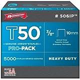 Arrow 506IP Genuine T50 3/8-Inch Staples, 5,000-Pack