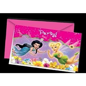 6 einladungen fairies springtime spielzeug for Amazon einladungskarten