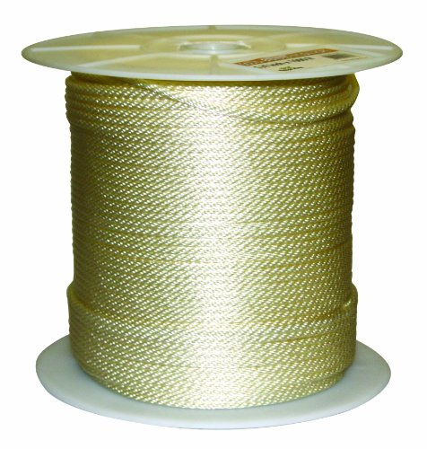 Rope King SBN-141000 Solid Braided Nylon Rope 1/4 inch x 1,000 feet (1000 Rope compare prices)
