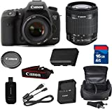 Canon 7D Mark II Digital SLR Camera with EF-S 18-55mm f/3.5-5.6 IS STM Lens + High Speed 16GB Memory Card + High Speed Reader + 5pc Bundle - International Version