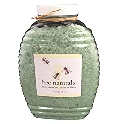 Best AromaTherapy Mineral Bath - All Natural Ingredients - Bath Salts & Essential Oils Formulation by Bee Naturals(32 Oz)