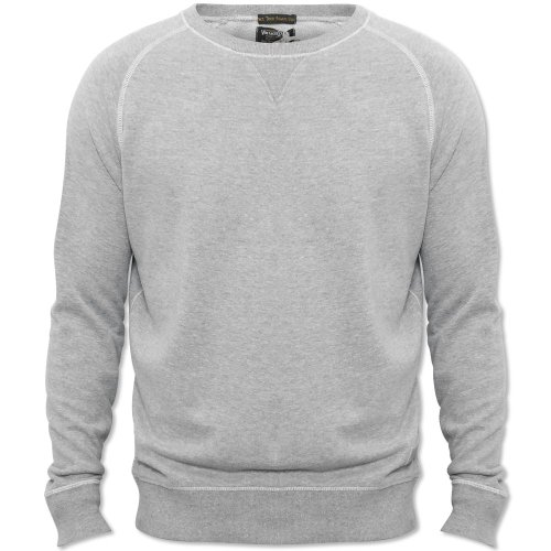 Jack & Jones Mens Grey Marl Rugged Plain Crew Neck Jumper Grey Marl X-Large