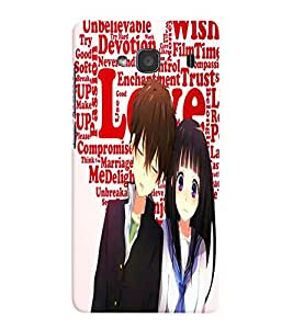 Fuson Love Couple Back Case Cover for XIAOMI REDMI 2 - D3826