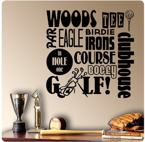Golfing Golf Sayings Wall Decal Sticker Art Mural Home Décor Quote