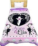 大人気のディズニー暖か毛布 /ミッキーマウス/アナと雪の女王/アリエル/シンデレラ 140×200cm (アナと雪の女王)