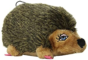 Kyjen PP01128 Hedgehog Girl Plush Dog Toys Squeak Toy, Small, Brown