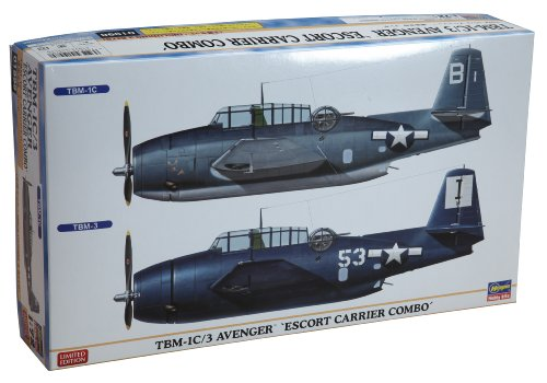 Hasegawa 1/72 TBM-1C/3 Avenger Escort Two Plane Combo Limited Edition Airplane Model Kit