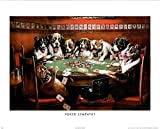 Coolidge Poker Sympathy Art Print POSTER Dogs Playing - 19x13