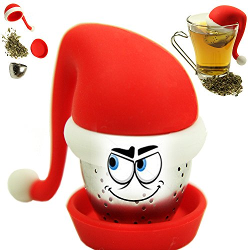 Why Choose Santa Tea Infuser - Cute New Year's 2015 Gift + FREE Book ♥ Special Silicone Hat Strain...
