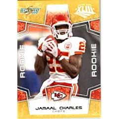 2008 Score SuperBowl Gold NFL Football Card - (Limited to 800 Made) # 384 Jamaal... by SCORE