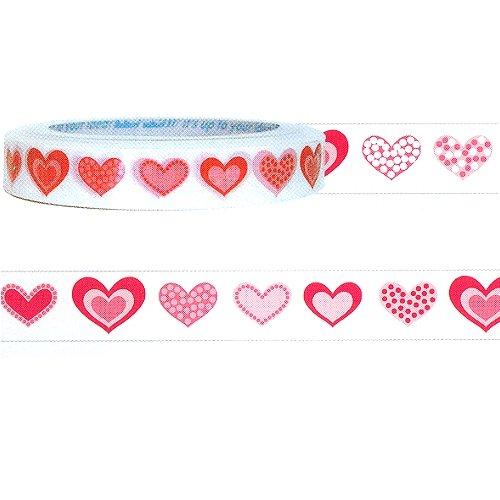 Pink Heart Design Decorative Mini Tape (L:25m X W1.5cm)