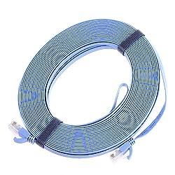 Anself CAT6 有線 LANケーブル 20m ブルー