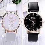 2015 Trendy GENEVA watches women dress wristwatches Analog dial Leather Strap Buckle Style Fashio...