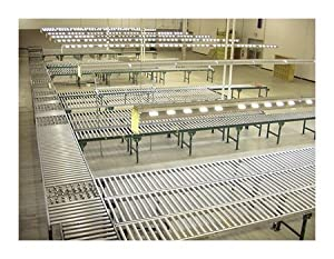 "Gravity Roller Conveyor - Steel Frame - 24"" Wide on 3"" centers"