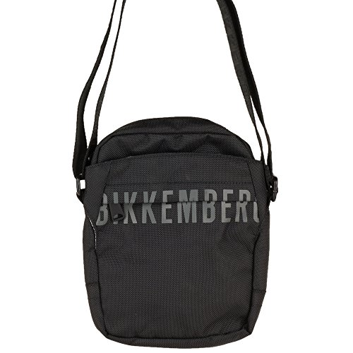 Borsa Borsello Uomo Donna Tracolla Bikkembergs Bag Men Woman DB Cover Reporter D2805-Nero