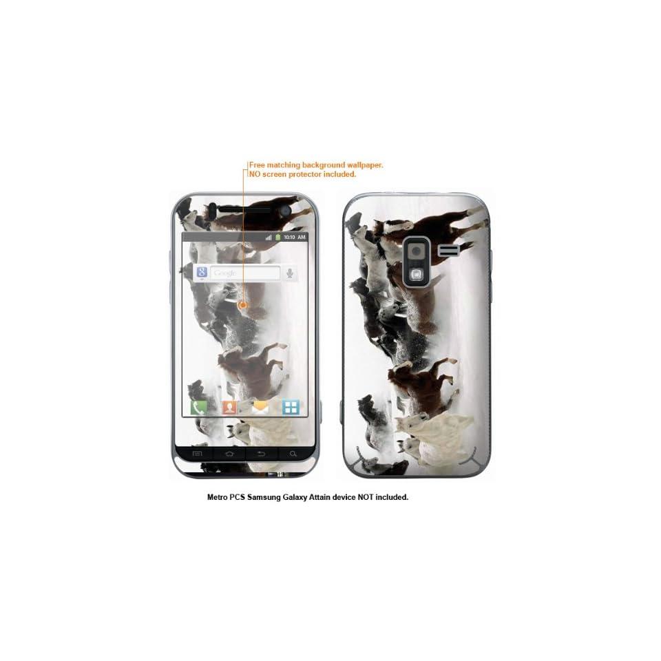 Protective Decal Skin Sticker for Metro PCS Samsung Galaxy Attain 4G case cover Attain 595